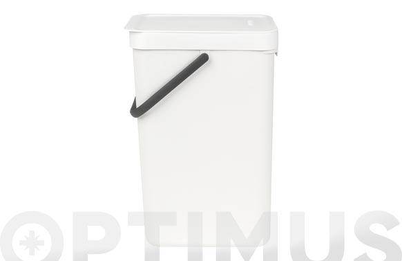 Cubo reciclaje sort & go' blanco 16 l