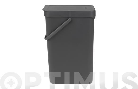 Cubo reciclaje sort & go' gris 16 l