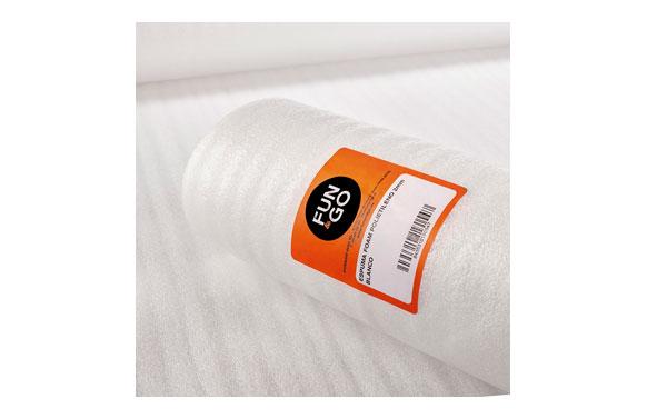 Espuma foam de polietileno blanco 2mm 0,75x5 m