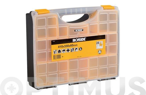 Clasificador maletin polipropileno 410 x 330 x 60 mm 21 compartimentos moviles