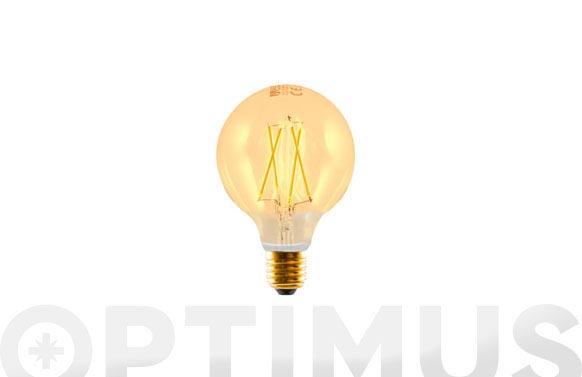 Lampara edison filamento led globo e27 3w 330lm luz calida (2200k)