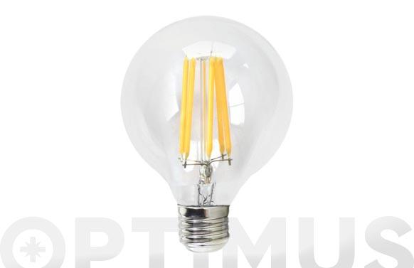 Lampara filamento led globo 670lm e27 6w luz calida (3000k)