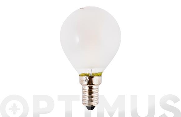 Lampara filamento led esf opal e14 3w luz calida (3000k)