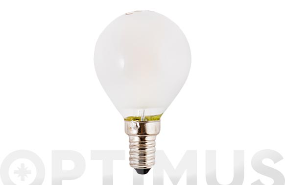 Lampara filamento led esf opal e14 3w luz blanca (5000k)
