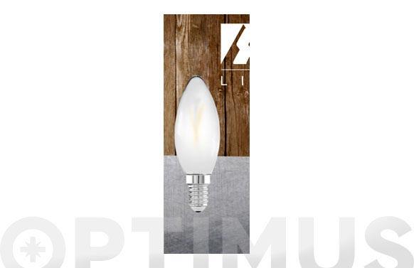 Lampara filamento led vela opal e14 3w luz calida (3000k)
