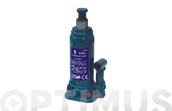 Gato hidraulico botella 8 toneladas altura: minima, 230 maxima, 457