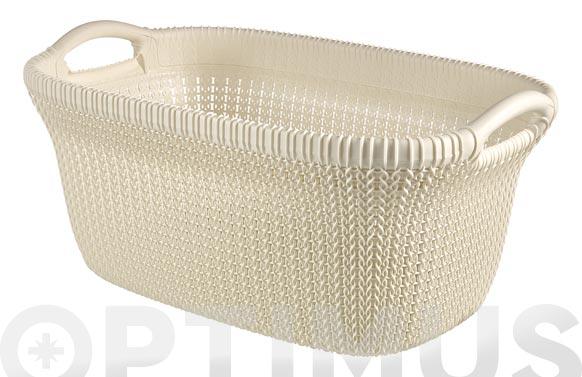 Cesta ropa knit basket 40 l blanco