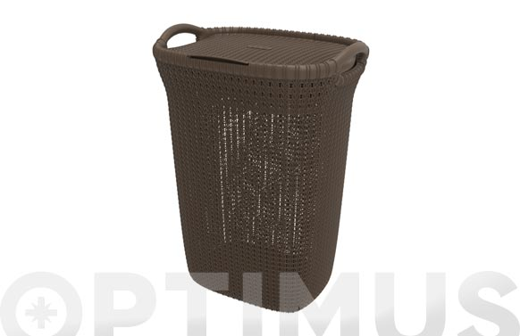 Pongotodo knit hamper 57l marron