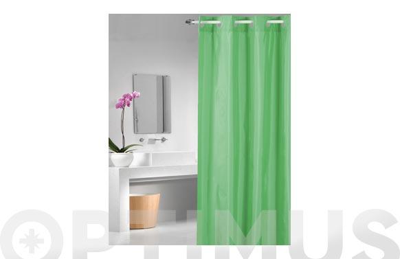 Cortina de ducha poliester magic-verde 1.80 x 2.00 m