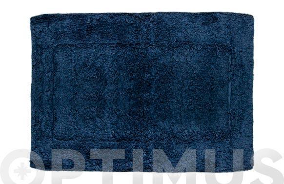 Alfombra baño azul/petroleo 40 x 60 cm