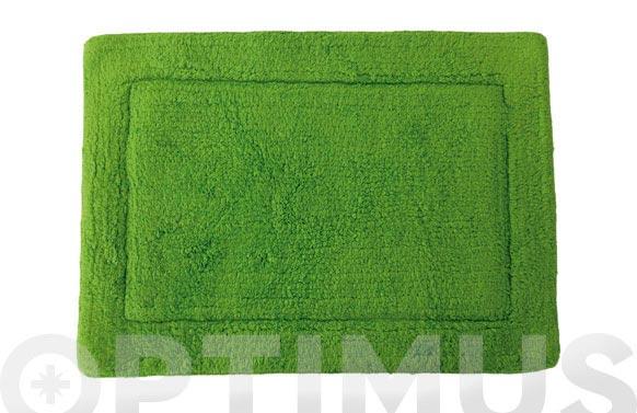 Alfombra baño verde 40 x 60 cm