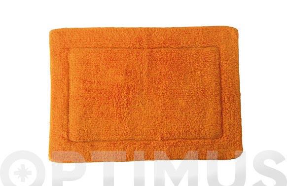 Alfombra baño naranja 40 x 60 cm