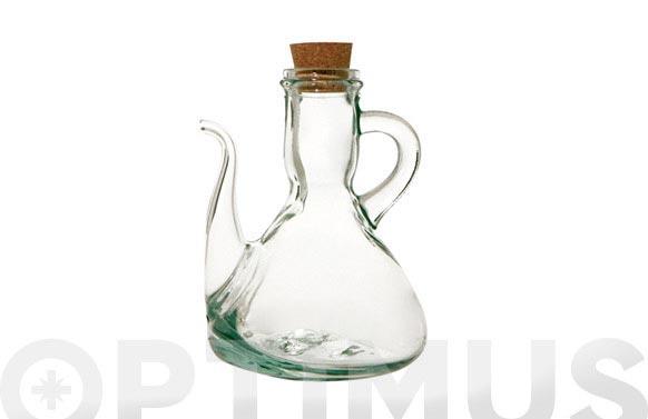 Aceitera vidrio tapon corcho 250 ml