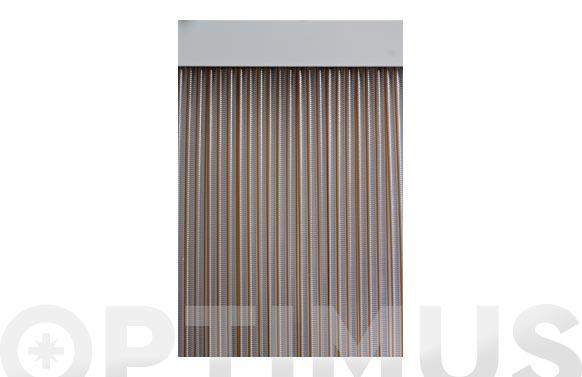 Cortina de puerta cinta duero-miel/transparente 90 x 210 cm