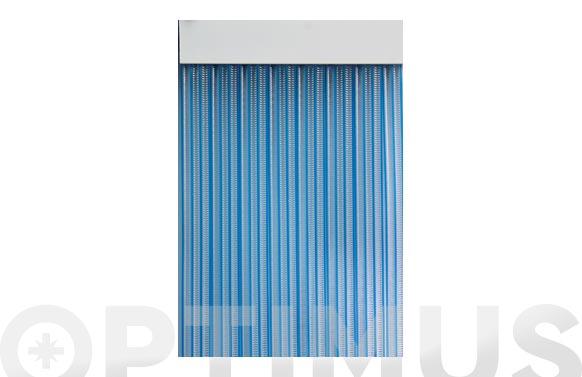 Cortina de puerta cinta duero-azul/transparente 90 x 210 cm