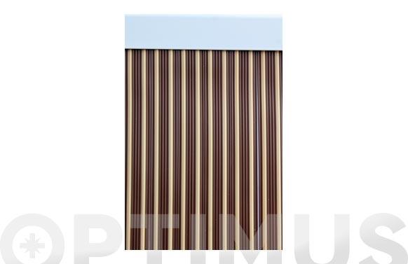 Cortina de puerta cinta ebro-marron/beige 90 x 210 cm