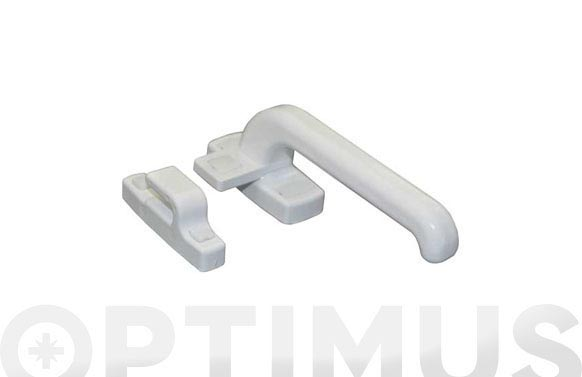 Cierre presion carpinteria aluminio 6801 derecha blanco