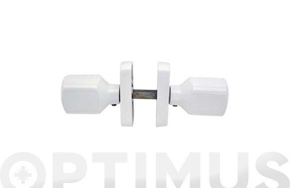 Pomo carpinteria aluminio (juego) 68012 blanco