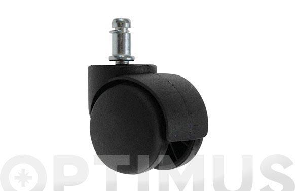 Rueda mueble auxiliar giratoria espiga lisa ø 50 mm