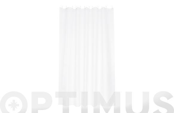 Cortina baño poliester soul blanco 180 x 200 cm