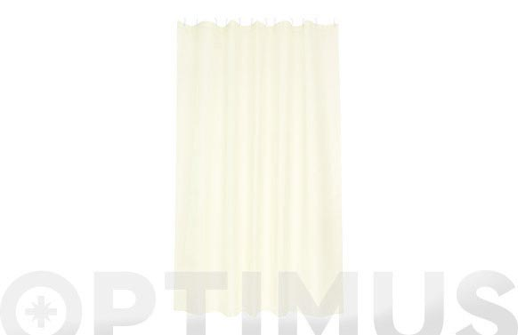 Cortina baño poliester soul beige 180 x 200 cm