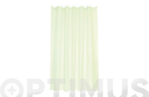 Cortina baño poliester soul verde 180 x 200 cm