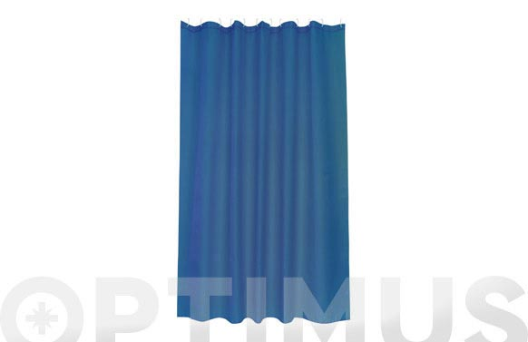 Cortina de baño poliester intense azul 1.80 x 2.00 m