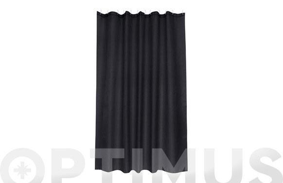 Cortina de baño poliester intense negro 1.80 x 2.00 m