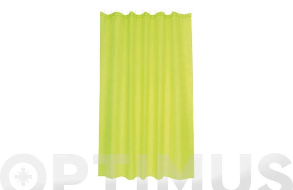 Cortina baño poliester intense verde 180 x 200 cm