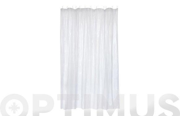 Cortina de baño pvc cristal 1.80 x 2.00 m