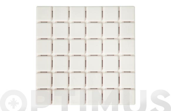 Antideslizante bañera quadro 6 blanco