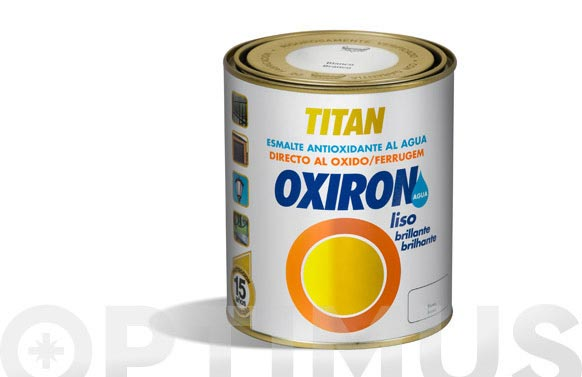 Esmalte liso oxiron brillante al agua  750 ml blanco