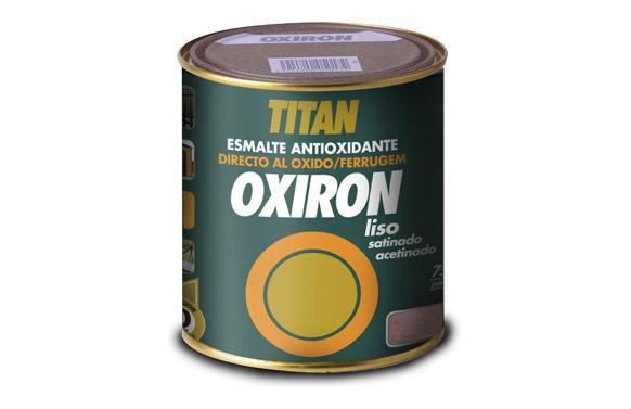 Esmalte liso oxiron satinado 750 ml gris acero efecto forja