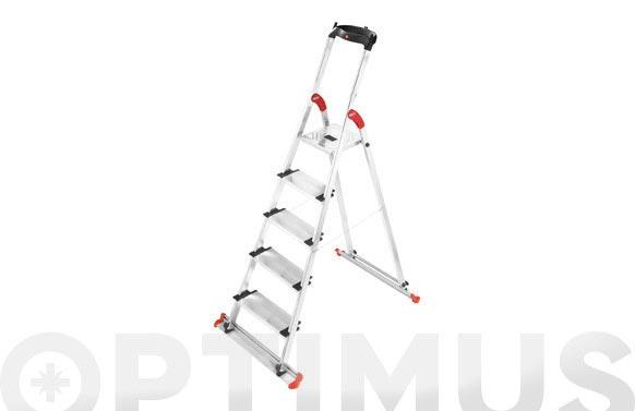 Escalera aluminio peldaño ancho garden&home 4 peldaños