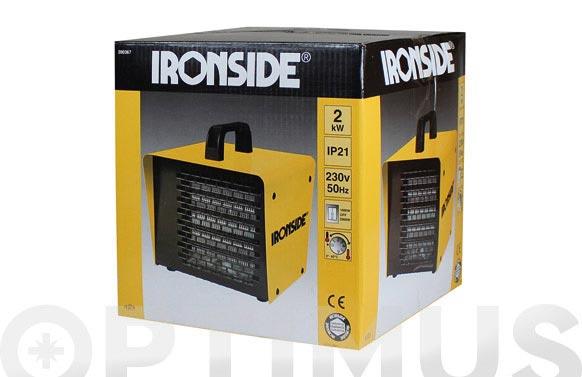 Calefactor ptc profesional 1.000 / 2.000 w con termostato y asa de transporte