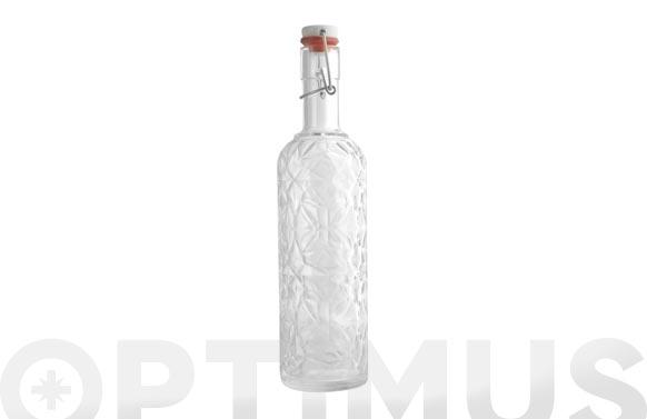 Botella vidrio tallada transparente 1l