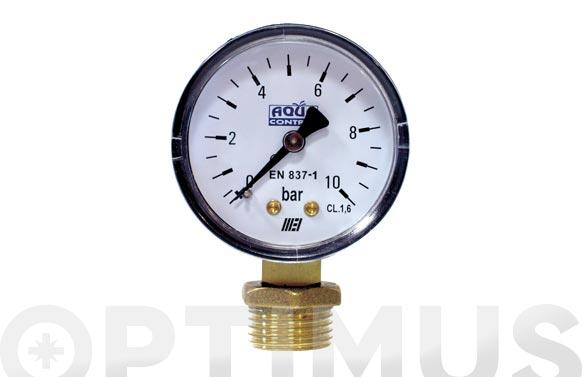 Manometro para reductor de presion 0 a 10 bares