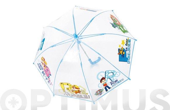 Paraguas infantil manual patrulla canina cupula