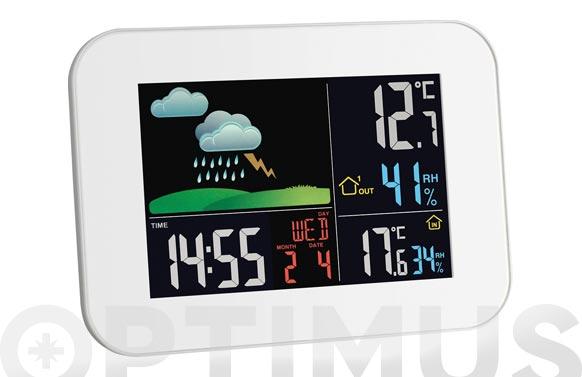 Estacion meteorologica inalambrica blanca