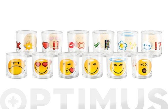 Vaso agua vidrio smiley emoticon 25 cl
