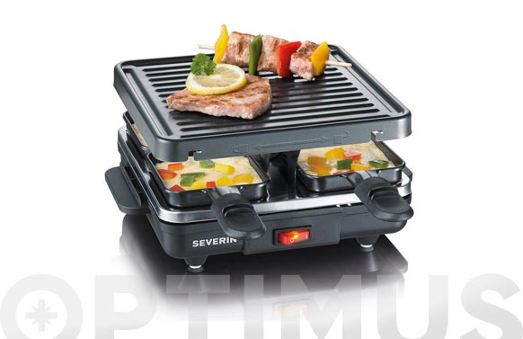 Raclette grill 600w 4 personas