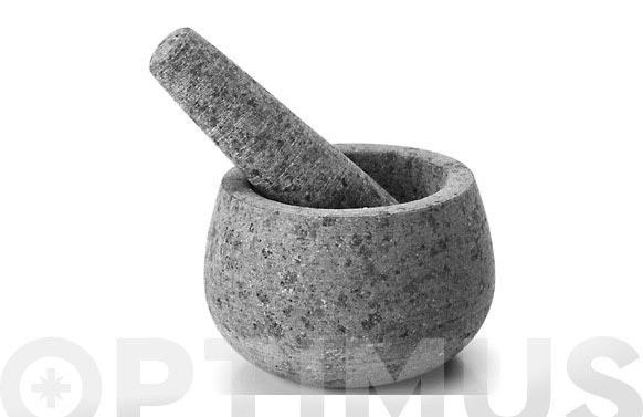 Mortero granito con mano 12x8 cm
