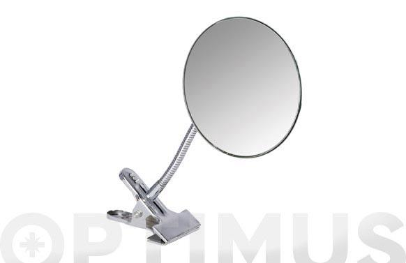 Espejo sujecion clip aumento x5 ø 15cm