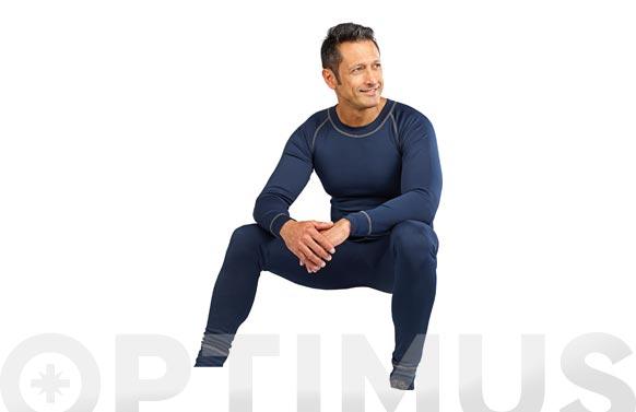 Camiseta+pantalon termico marino-l