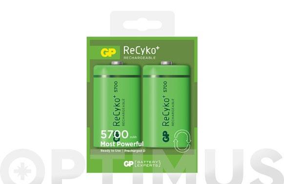 Pila recargable recyko (bl.2) d lr20 5700mah
