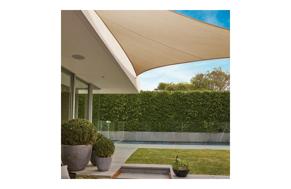 Toldo vela sombreo 'everyday sail' triangular 3,6 m tierra 205gr 'coolaroo'