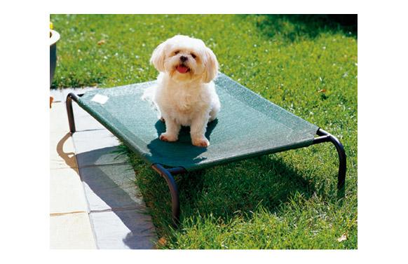 Cama mascota 's' verde 90x55x20cm hasta 15kg 'colaroo'
