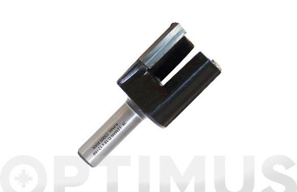 Fresa pernio metal duro ø 12 mm mango 6 mm 2z