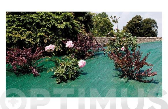 Malla antihierbas 105gr/m2 verde 'green cover' 1,25 x 10 mt