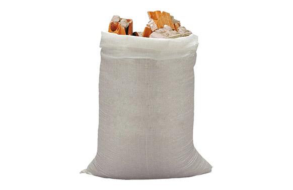 Saco rafia (10 unid) 50x80 cm blanco